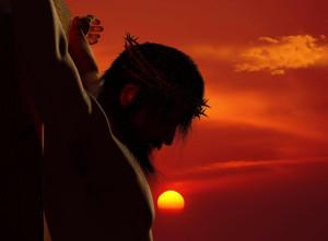 Jesus-on-cross-sunset--300x221