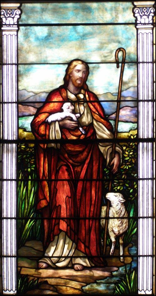 Window in the Home Moravian Church, Winston-Salem, NC