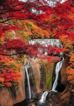 Waterfall in Autumn - Copy